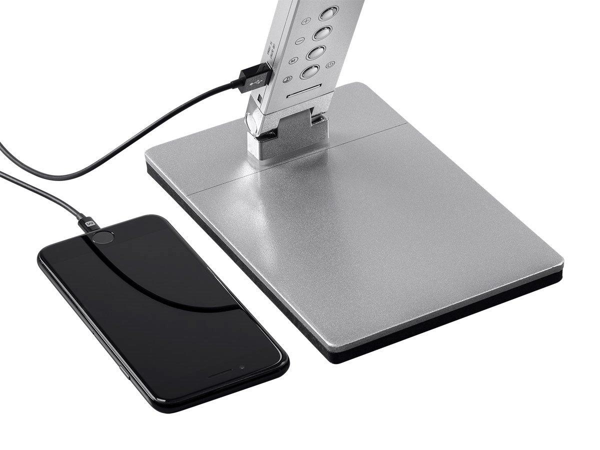 Monoprice LED Aluminum Desk Lamp, Silver - (116365) by Monoprice (Image #5)