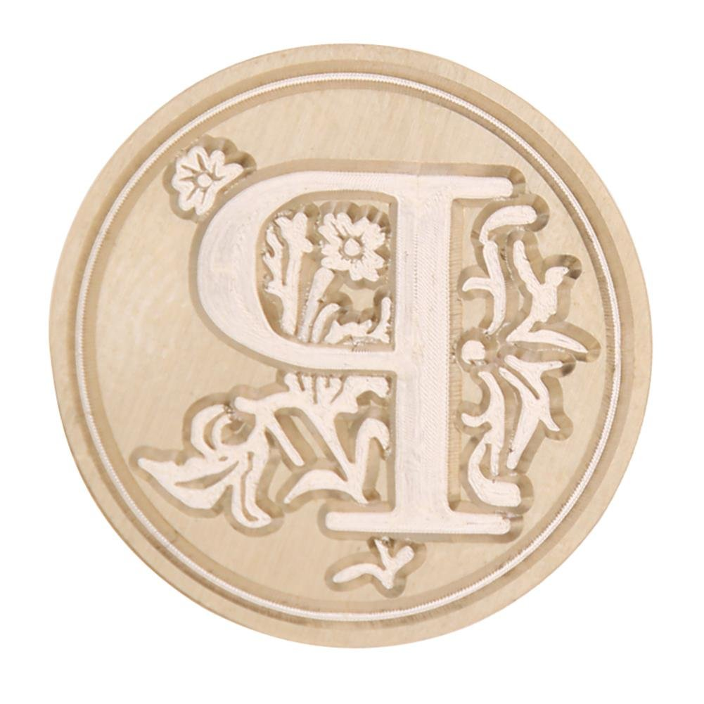 Sello de cera de, nelnissa sello europeo de pintura de cera de letra Vintage sobre sellado sello de cabeza de cobre