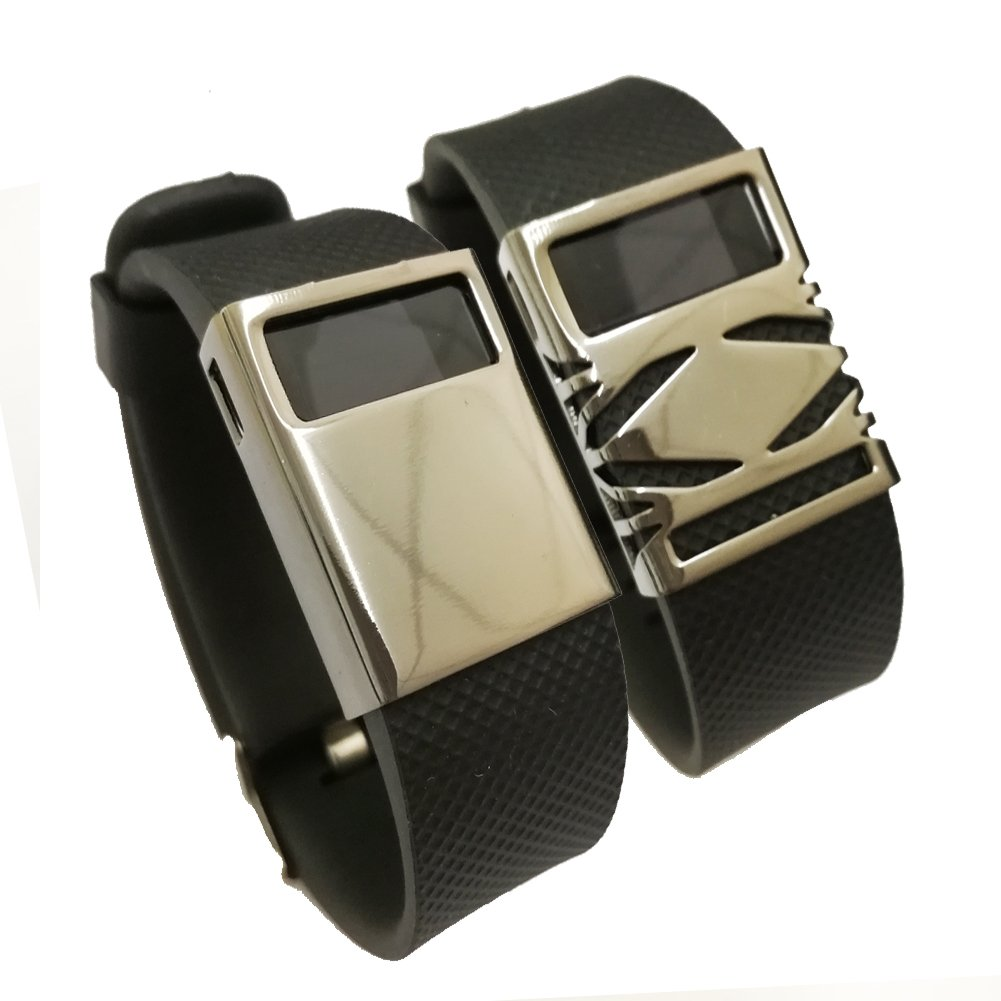budesi-bandカバーfor Fitbit Charge / FITBIT Charge HRスリムDesigner Sleeveプロテクターアクセサリー B072MTYNCZ Metal band cover 1