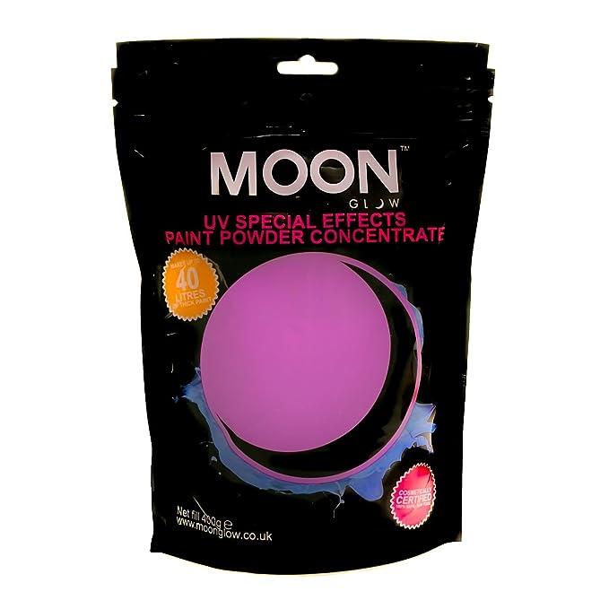 Pintura neón en polvo UV fluorescente de color púrpura