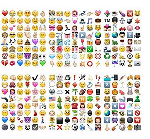 Great 19 Pack 912 Die Cut Large Stick Used to iPhone Funny Design Emoji Stickers ()