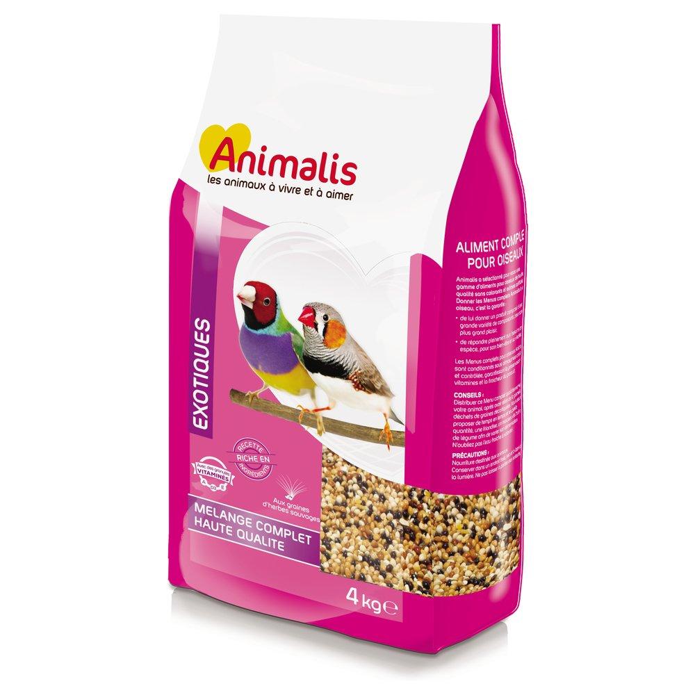 Animalis Mélange de Graines pour Oiseaux Exotique 4Kg