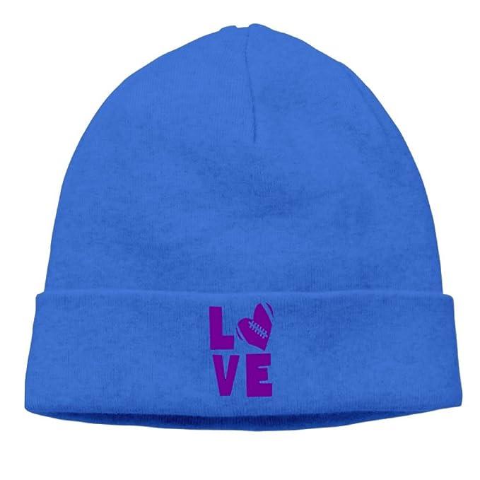c2aeb8367df Eagles Fan Beanie Hats I Love Purple Football Heart Cable Knit Skull ...