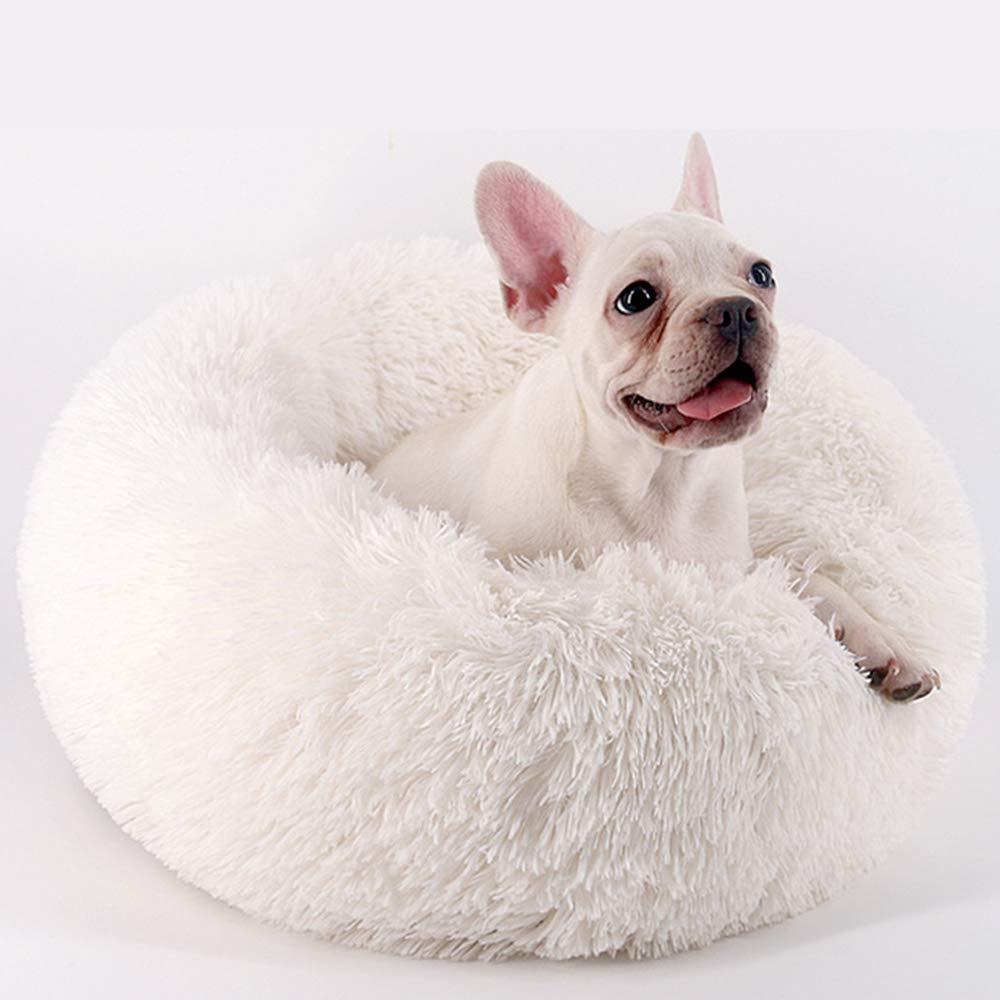 Cuccia per Cani a Pelo Lungo Super Morbida Tonda,Autunno e Inverno Caldi YYCOOL Cuccia