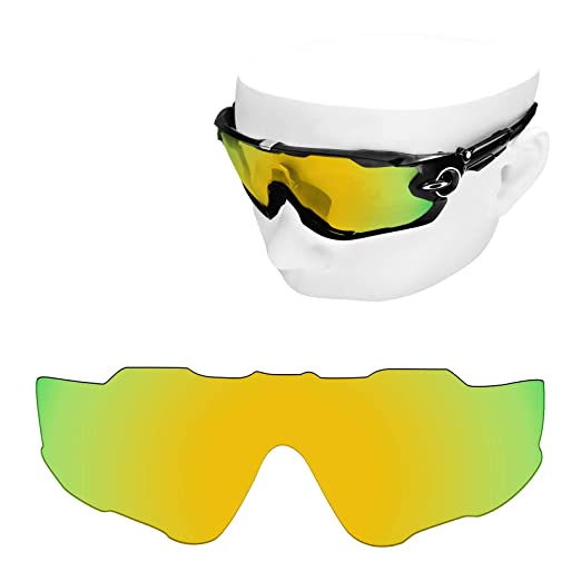 00eefab45c Image Unavailable. Image not available for. Color  OOWLIT Replacement Lenses  Compatible with Oakley Jawbreaker Sunglass ...