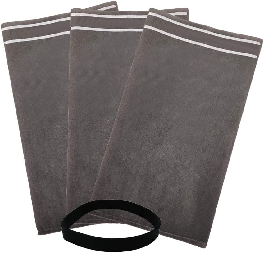 S SMILEFIL 9-38737 Dust Cloth Filter Bag Wet Dry Vacuum Bags for 2 to 2.5 Gallon Shop Vacuums and Powerhead Bucket Vac (3 Shop Vacuum Bags with 1 Retaining Band)