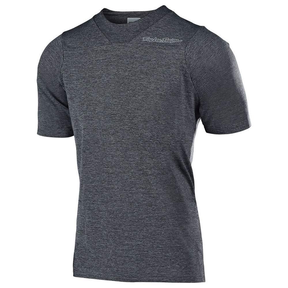 Troy Lee Designs Skyline Short-Sleeve Jersey - Men's Solid Heather Gray, M