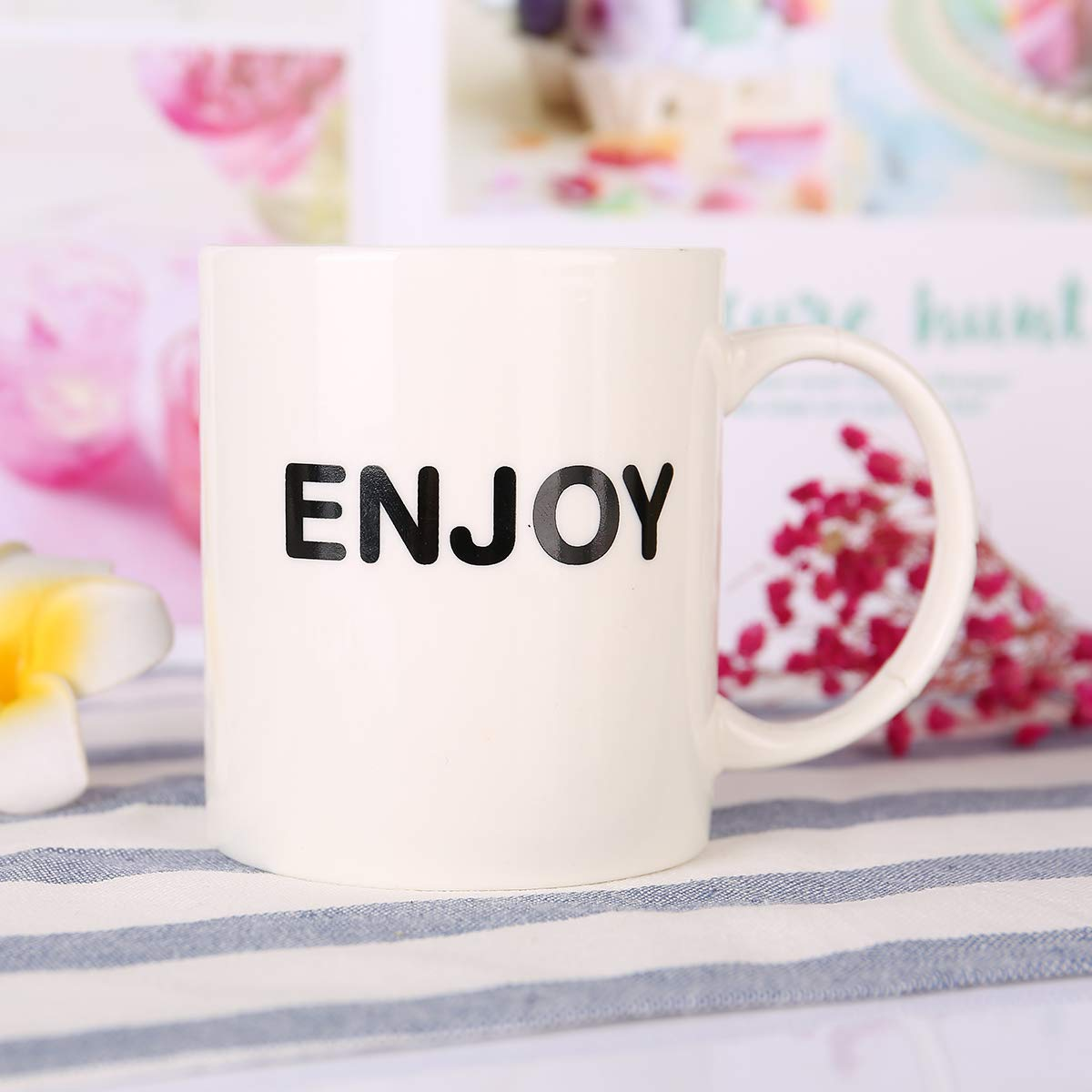 HANHAOPEAK Coffee Mug, 11oz Funny Coffee Mug: Enjoy, Unique Ceramic Novelty Holiday Christmas Hanukkah Gift for Men and Women Who Love Tea Mugs Coffee Cups, Suitable for Office and Home by HANHAOPEAK (Image #6)