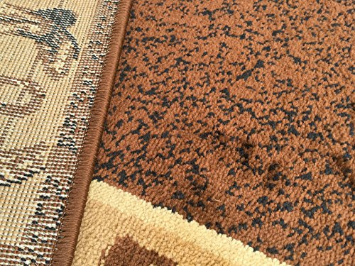 Rugs 4 Less Collection Cowboy Western Cabin Style Lodge Door Mat Area Rug Design R4L 375 (2'X3')