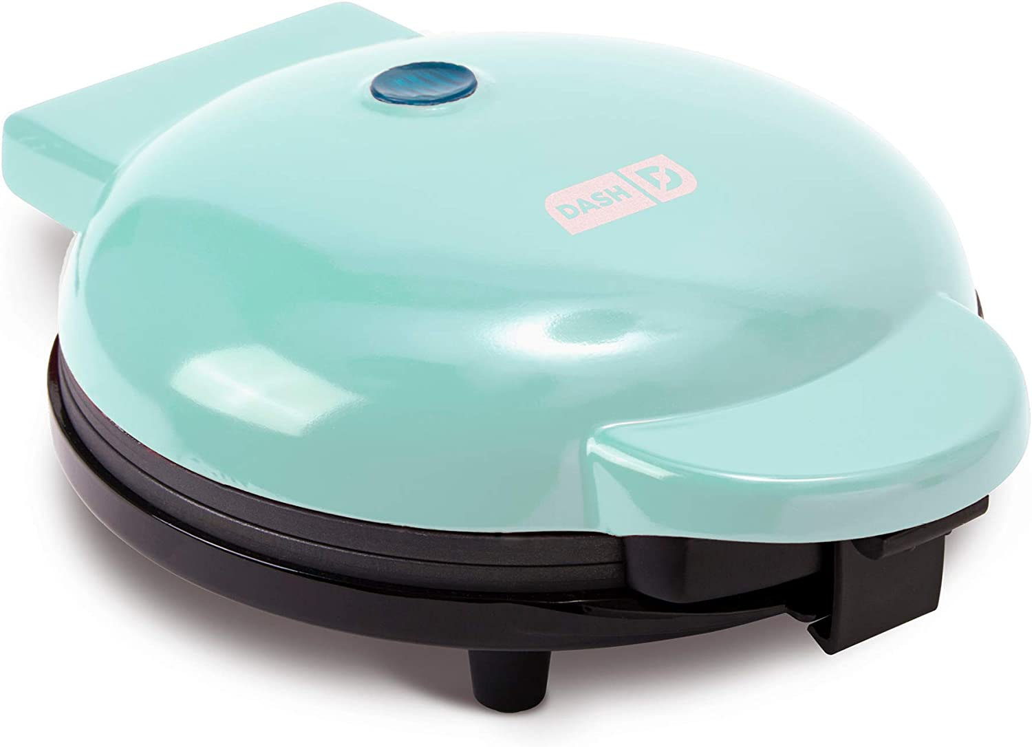 """Dash DEWM8100AQ Express 8"""" Waffle Maker Machine for Individual Servings, Paninis, Hash browns + other on the go Breakfast, Lunch, or Snacks with Easy Clean, Non-Stick Sides Aqua (Renewed)"""