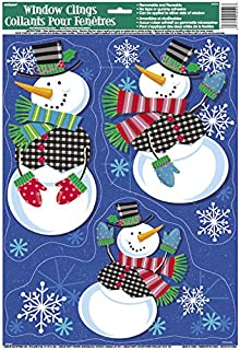 Christmas Silver And Blue Glittery Snowflake Window Stickers PM - Snowflake window stickers amazon
