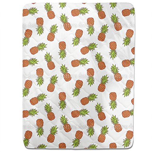 Sweet Pineapple Fitted Sheet: Queen Luxury Microfiber, Soft, Breathable by uneekee