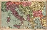 WORLD WAR 2. Italian Istria Zara Lagosta Dodecanese Albania. Balkans - 1940 - old map - antique map - vintage map - Italy map s