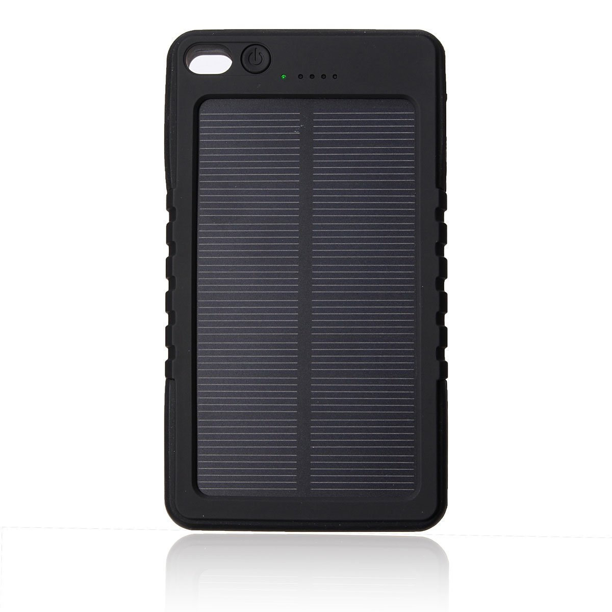 Faddist Solar Panel Charger 8000mah Rain-resistant Dirt/shockproof Dual USB Port Portable Charger Fits Most Usb-charged Devices (Black)