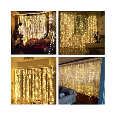 Genial Bedroom Wedding Curtain Lights AMARS 3M X 3M Window String Fairy Waterfall  Icicle Lights (Warm