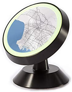 Tinmun Magnetic Phone Car Mount, Map Los Angeles City California Universal Car Phone Holder for Dashboard