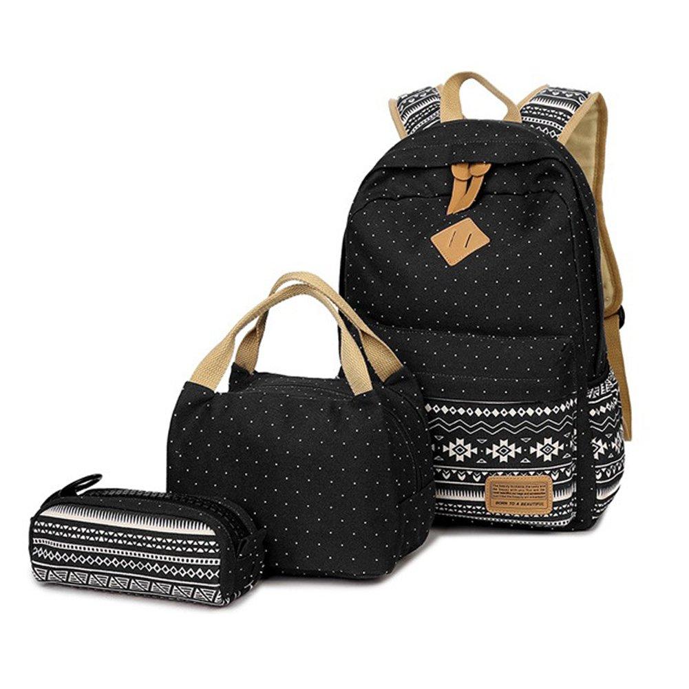 bc3c8f2756 FEWOFJ Tela Zaino Casual Scuola Zaini Donna Ragazza Backpack Zainetto 3 in  1 Zaini + Borsa