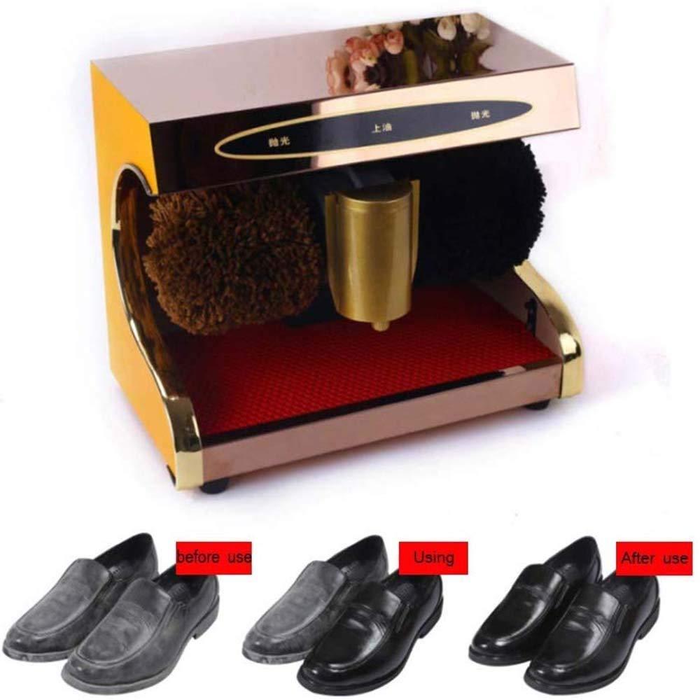 JTKDL Electric Shoe Shine Kit Electric Shoe Polisher Brush Shoe Shiner Dust Cleaner Portable Automatic Induction Shoe Polisher and Polisher for Family Hotel Bank