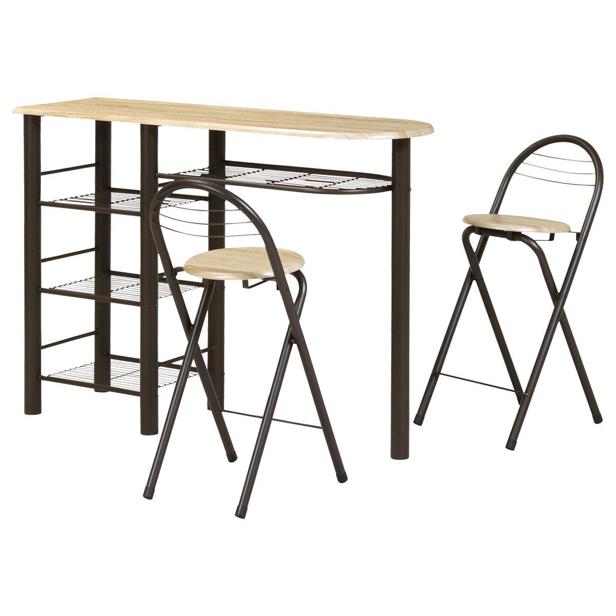 koeki テーブル 3点セット ハイタイプ CT-1200(BR) B016VV7S2O