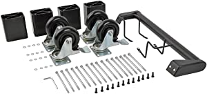 Tripp Lite Charging Station Cart Conversion Kit w/Handle, Casters & Power Cord Manager for 16-Device AC & USB Charging Stations (CSHANDLEKIT2),Black