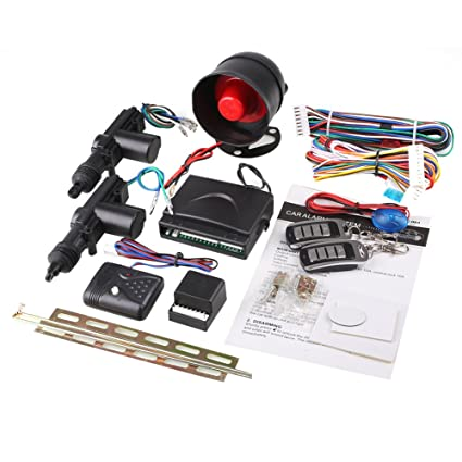 Leaftree New Car Alarm con 2 Puertas de Control Remoto Kit ...
