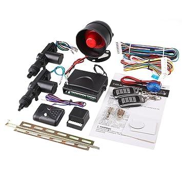 Sedeta® Seguridad del coche Alarma 2 Puerta Control Bloqueo ...