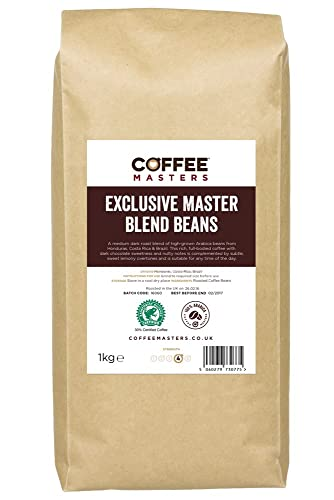 Coffee Masters Exclusive Master Blend of 100% Arabica Espresso Coffee Beans 1kg