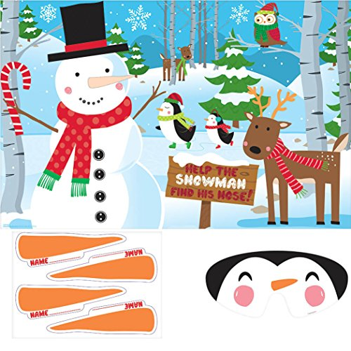 Christmas Party Activities (Pin-The-Nose On The Snowman Game | Christmas)