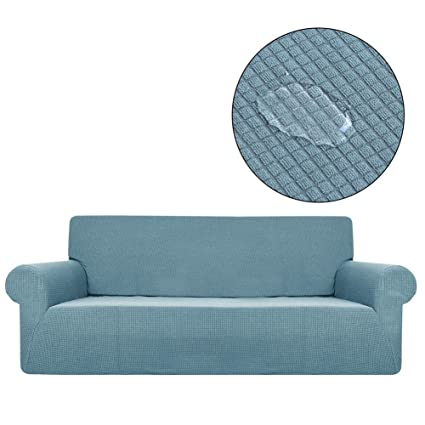 Funda para sofá Impermeable, elástica, de Tela, Antideslizante, con Borde Completo, Cubierta de Forro Polar para sofá de 3 plazas, Protector de ...
