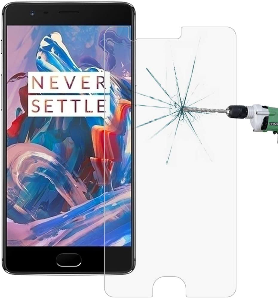 100 PCS for Oneplus Three 0.26mm 9H Surface Hardness 2.5D Explosion-Proof Tempered Glass Screen Film Clear YINZHI Screen Protector Film