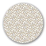 Uneekee Soft Pillow Feathers Lazy Susan: Large, pure birch wooden Turntable Kitchen Storage