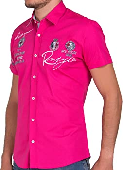 Redbridge - Camisa Regular fit de Manga Corta para Hombre, Talla 5XL, Color Fucsia: Amazon.es: Ropa y accesorios