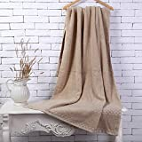 HOMEE Cotton Bath Towel/Increasing Thickening Adults Soft Absorbent Cotton Solid Color Bath Towel,C