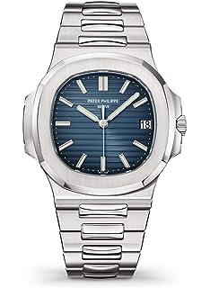 diseño de calidad 196b4 079a5 Amazon.com: Patek Philippe Nautilus 40mm Platinum 40th ...