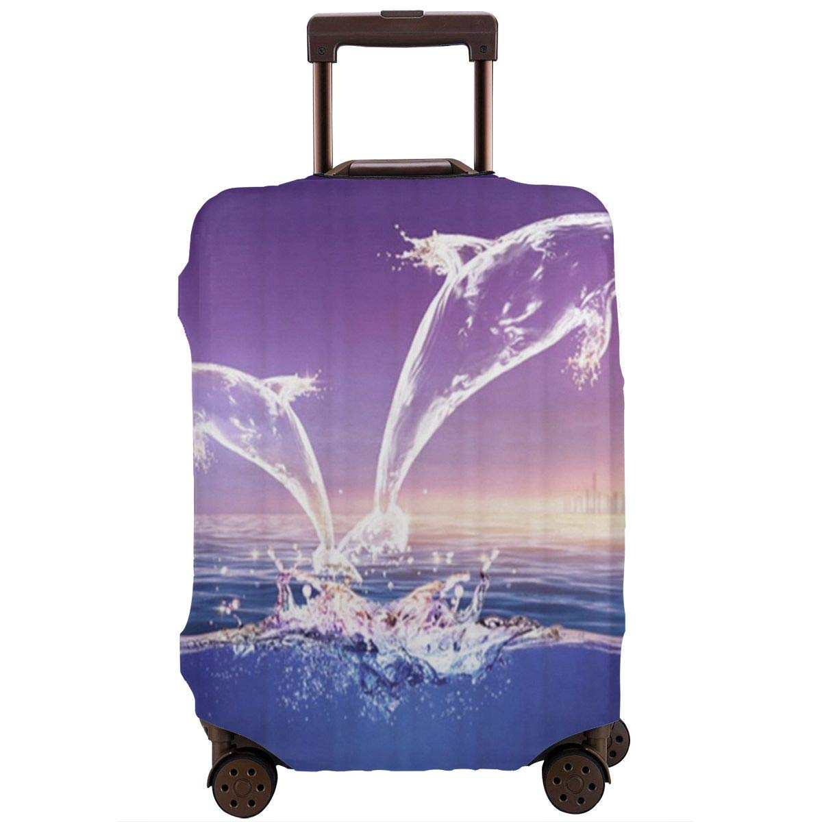 JHNDKJS Crystal Dolphin Travel Luggage Cover Baggage Suitcase Protector Fit for 12-18 Inch Luggage