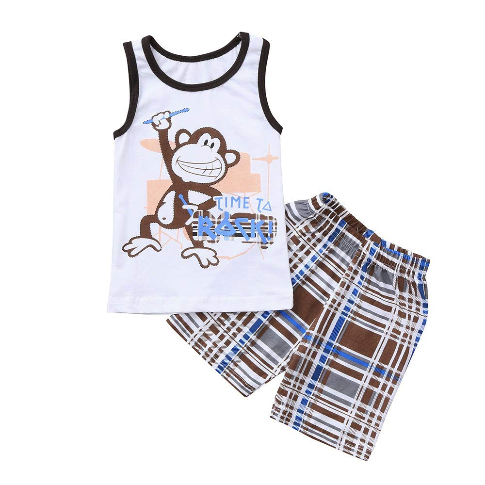 76abb68bac201 Amazon.com: Outfits for Infant Baby, Kids Baby Boys Monkey Letter ...