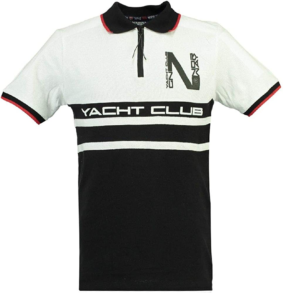 Geographical Norway Polo DE Hombre KAILS Negro/Blanco L: Amazon.es ...