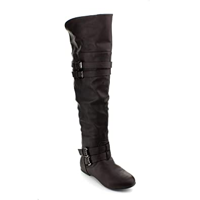 Amazon.com | Top Moda Night-79 Riding Boots | Over-the-Knee