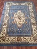 Cheap Home Must Haves HUGE BLOWOUT SALE FRENCH DESIGN RUG LIGHT BLUE MEDALLION CARPET FLORAL (8′ x 10′)