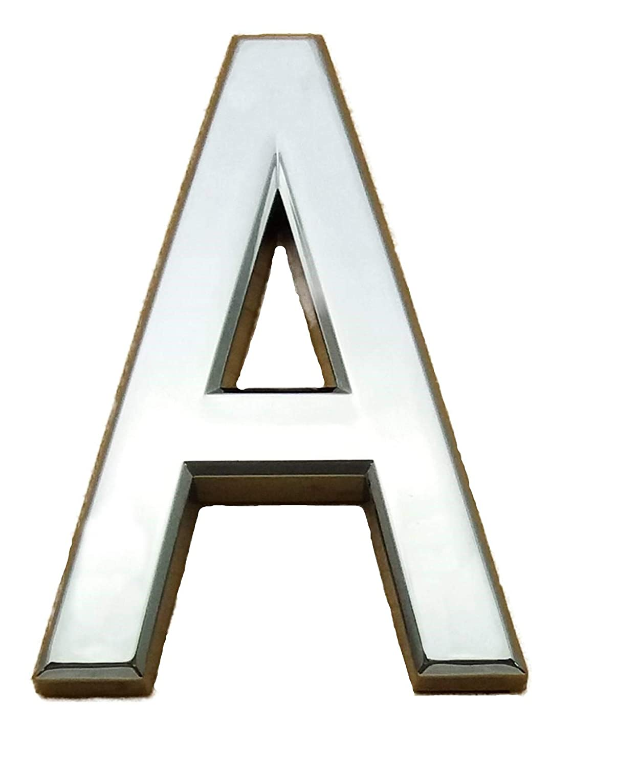 Self Adhesive Chrome Letters Alphabet Silver Car Door House Name 3D Curved Height 7CM (M) A S Supplies