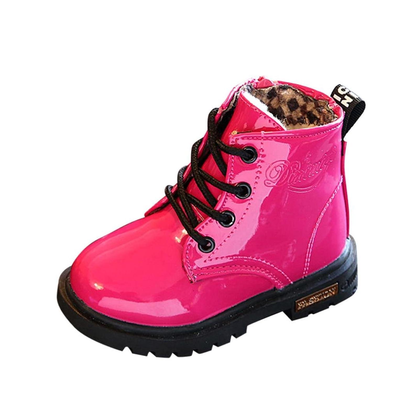 Bébé chaussures occasionnelles pour 0.5-3 ans enfant, JANLY Enfants mode garçons filles Martin Sneaker hiver épais neige bébé chaussures occasionnelles