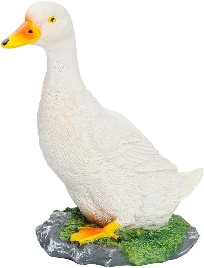 Dinglong Resin Duck Statue Garden Garden Sculpture Ext/érieure Art Crafts D/écoration Jaune