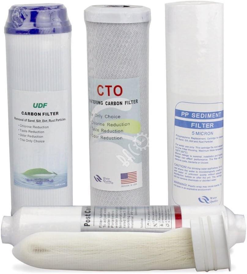 Etapa 1 – 5 filtros para BACOENG 5 Etapa debajo del fregadero Sistema de filtro purificador de agua de ultrafiltración: Amazon.es: Bricolaje y herramientas