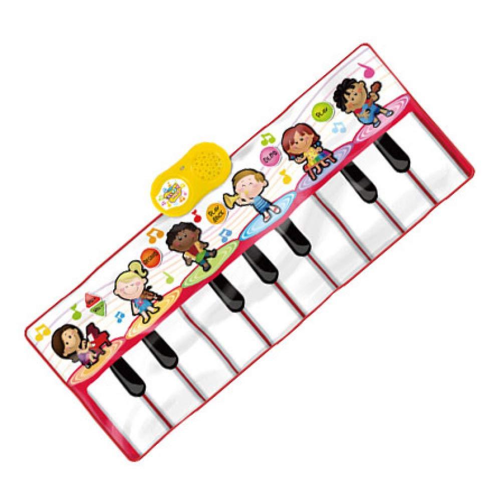 QXMEI Tapis De Danse pour Pieds Musique Piano Couverture Apprentissage Précoce Apprentissage Jouets pour Enfants,Red