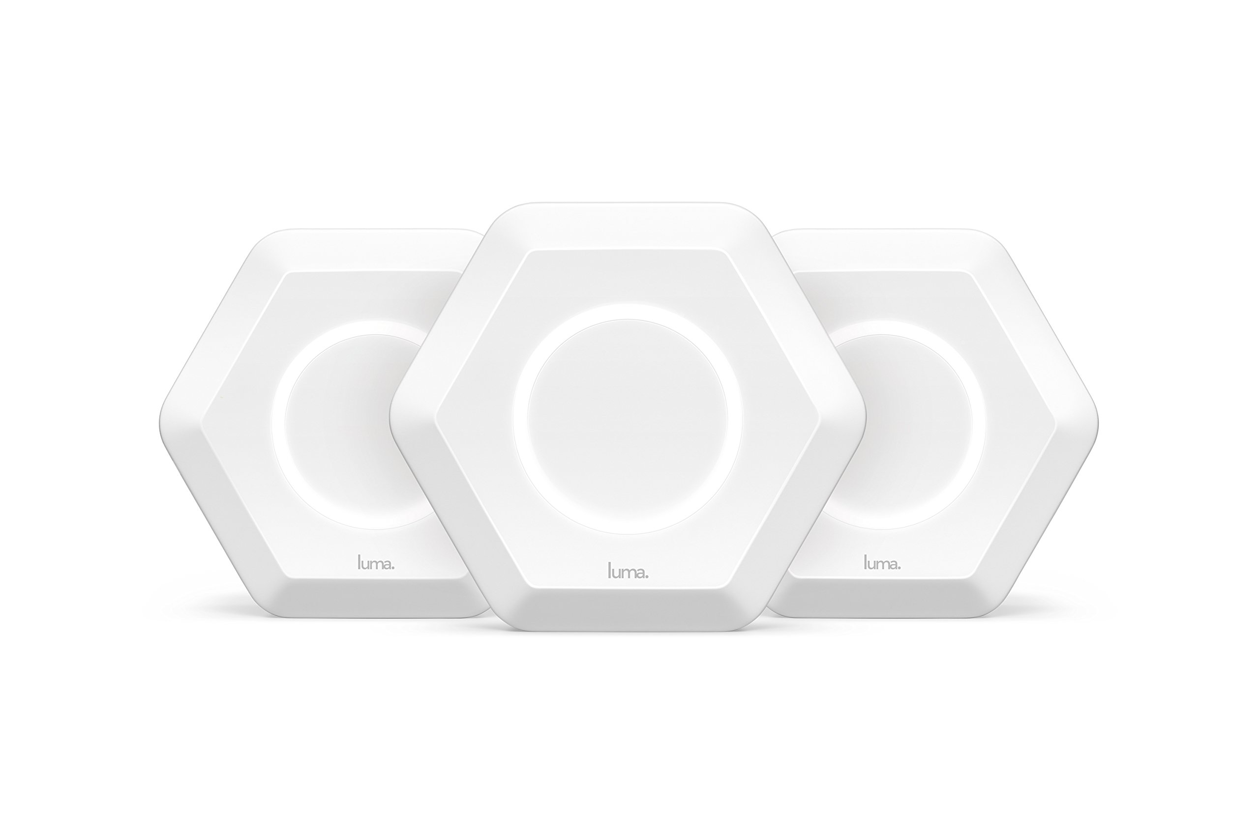 Luma Whole Home WiFi (3 Pack - White) -   Replaces WiFi Extenders and Routers, Works with Alexa, Free Virus Blocking, Free Parental Controls, Gigabit Speed by Luma