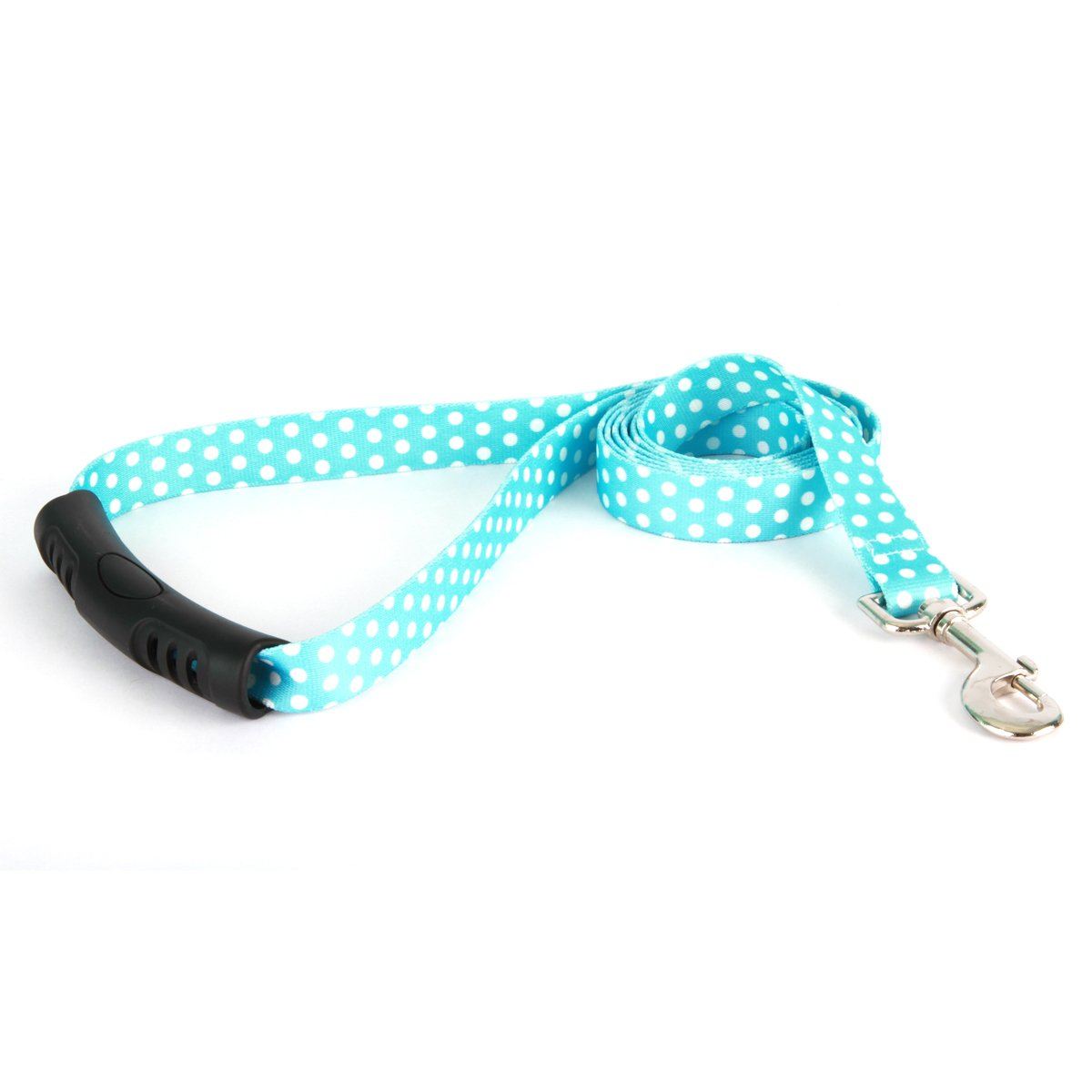Yellow Dog Design New Blue Polka Dot Step-in Dog Harness, Large-1'' Wide and fits Chest of 25 to 40'' by Yellow Dog Design