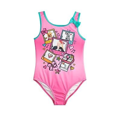 a3372f576d Amazon.com  Nickelodeon Girls JoJo Siwa One Piece Fashion Swimsuit ...