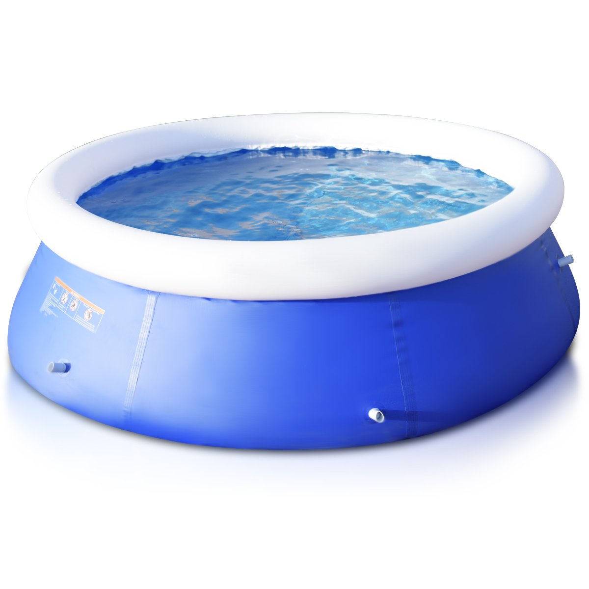 Goplus Inflatable Swimming Pool Family Lounge Pool Swim Play Center Easy Set Pool without Pump, 8' x 30'' (Blue) by Goplus (Image #3)