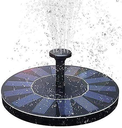 TEHWDE Fuente Solar Bomb,1.6W Energía Solar al Aire Libre de pie Fountain Pump, Bomba Flotante con Panel Solar Jardín Solar Kit Bomba de Agua Bomba Sumergible para Jardín y Birdbath y Estanque: