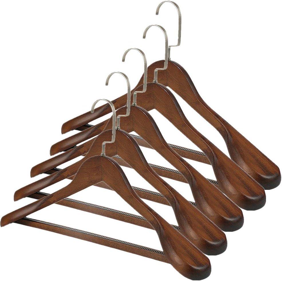 Trixes Houten hangers, 5 stuks, voor kleding, jurken, broek